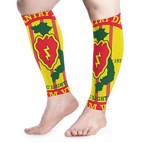 Bikofhd Wadenkompressions-Ärmel Leg Performance Support 25th Infantry Division Vietnam Veteran Leg Support Socks for Women Men 1 Pair (25th Infantry Division Vietnam)