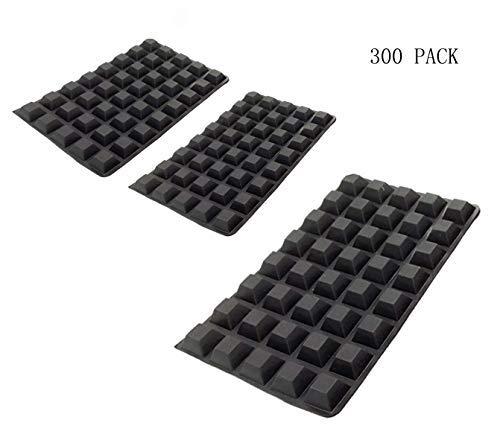 SOHAPY 300 Stück selbstklebende Gummifüße für Türen, Schubladen, Schrank, Elektronik, Lautsprecher, Laptop, Geräte, Möbel, geräuschdämpfende Gummifüße, schwarz