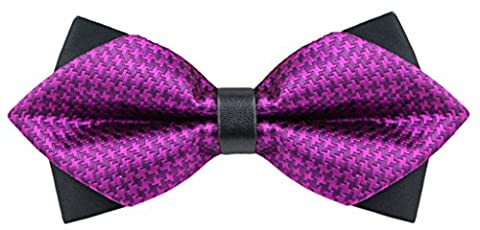 OCIA® Fliege Schleife Schlips Anzug Hemd Hochzeit Fasching Bunt Verstellbar Gebunden Herren Muster Mode Krawatte - M747 Original