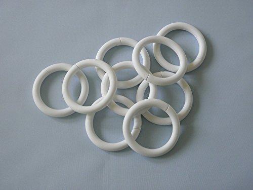 Duschvorhang weiß 120×200 cm inkl. Ringe - 2