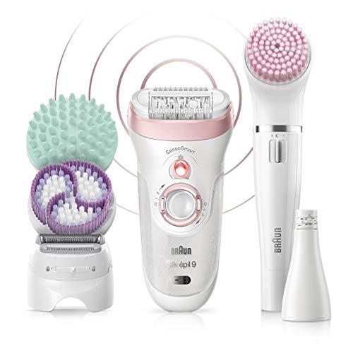 Braun Silk-épil Beauty-Set9 9-995 Deluxe 9-in-1 Kabellose Wet&Dry Haarentfernung, Epilierer, Rasierer, Peeling, Reinigungskit Für Gesicht und Körper