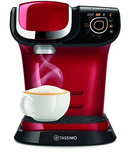 Bosch TAS6003GB Tassimo Coffee Machine, 1500 W, 3.3 Bar, Red