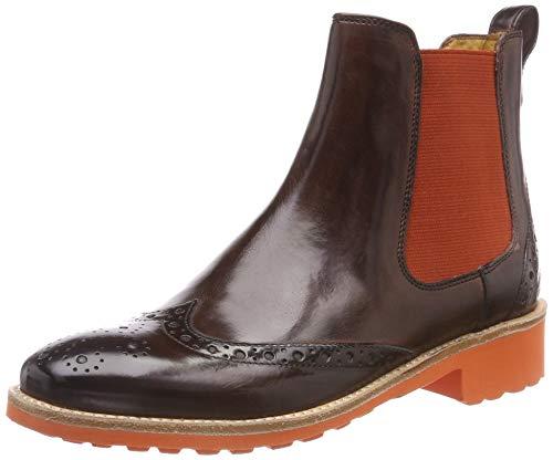 Melvin & Hamilton Damen Amelie 5 Chelsea Boots, Braun (Crust/Mogano/Ela Rook D Orange), 38 EU