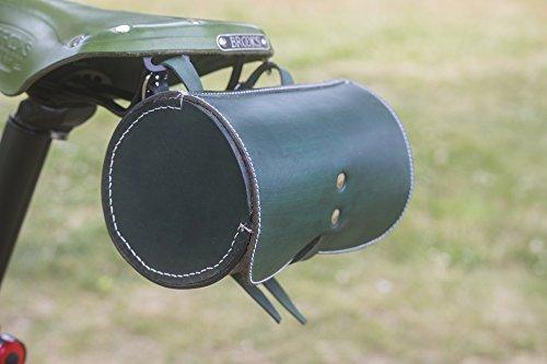 L05 - Sillín de Piel para Bicicleta, Diseño de Londres, Color Verde