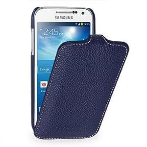 Tetded® Housse cuir flip ultra mince Samsung Galaxy S4 Mini ( Bleu )