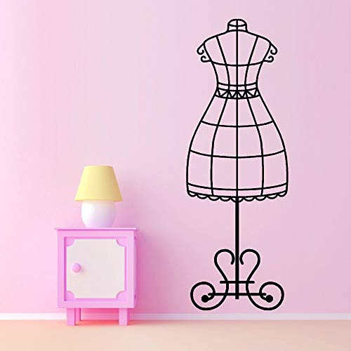 Wall Stickers Removable Women Clothes Stand Vinyl Wall Decal Tailor Clothing Stand Dress Model Wall Art Mural Black 20x57cm (Kinder Gepäck Batman)