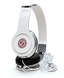 Lenovo Vibe K4 Note Compatible Signature Brand High Quality VM-46 Stereo Bass Solo Headphones For Iphone,Samsung, Redmi and All Other Smartphones (White Color)