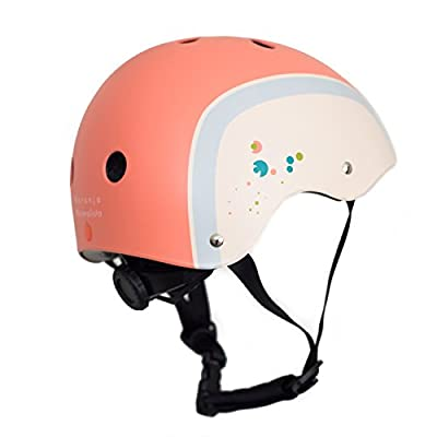 Naranja Minimalista® Kids Designer Sports Helmets and Travel Pouch | Safety Certified & Size Adjustable | Extra Light to Keep Kids Safe & Comfortable | Small and Medium Sizes for Boys and Girls | Scooting | Cycling | Skating by Naranja Minimalista®