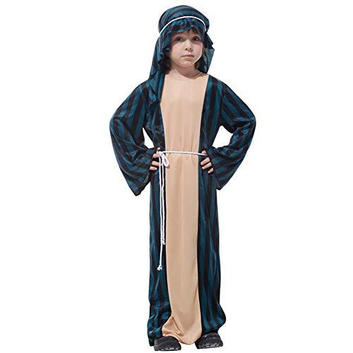 Kostüm Saudi Arabische Kinder - LOLANTA Arabisches Prinz Kostüm für Jungen Wüstenprinz Kostüm für Kinder Halloweenkostüm (6-7 Jahre)