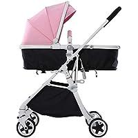 Cochecito de bebé Paisaje alto Cochecito ligero Bebé puede sentarse Amortiguador de descanso bidireccional plegable Carro