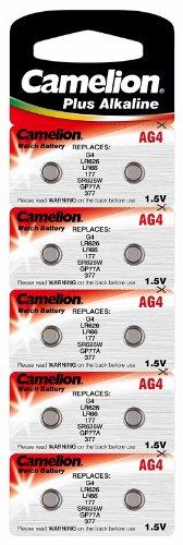 Alkaline Knopfzelle CAMELION AG4/LR66/LR626/377 Original