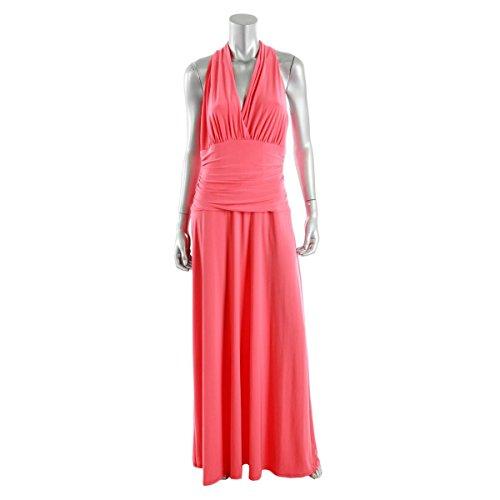 Nine West Fire Glow Womens Maxi Surplice Dress @093 Orange 10 Surplice Maxi Dress