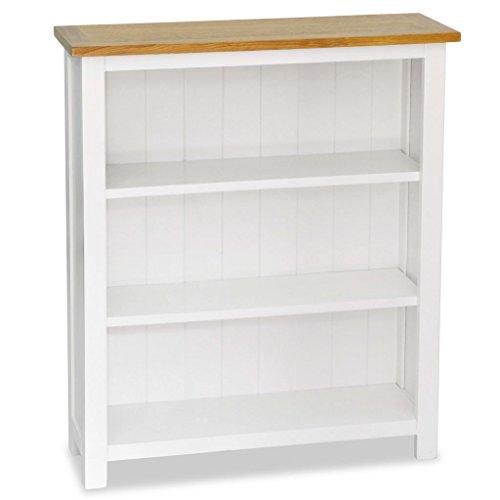 Festnight libreria moderna a 3/5 ripiani in legno di quercia bianco e marrone 60x22,5x140 cm da ufficio/studio/casa