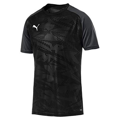 Puma Herren Cup Training Jersey Core Trainingsshirt, Black-Asphalt, 3XL