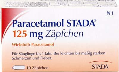 PARACETAMOL STADA 125 mg Zäpfchen 10 St