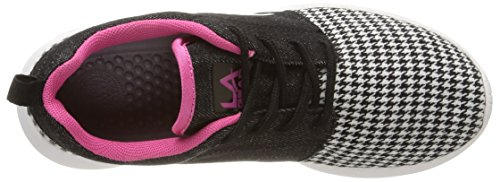L.A. Gear Sunrise, Sneakers basses femme Multicolore (Black/White/Pink)