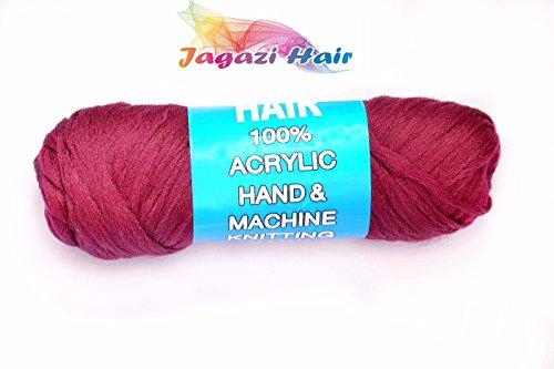 Brazilian Wool hair: Faux Locks, Braids, Twists, Knitting Brazil Wool. Yarn VEREINIGTES KÖNIGREICH. BURGUND. Brasilianische Wolle Haar: Faux Schlösser, Zöpfe, Twists, Stricken Brasilien Wolle. Garn (Garn Twist Zöpfe)