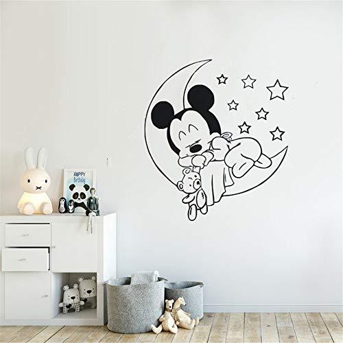 wandaufkleber blumenranke Kinderzimmer Wandtattoo niedlichen Mickey Mouse Baby Sleeping Wand Aufkleber Kinderzimmer Dekoration