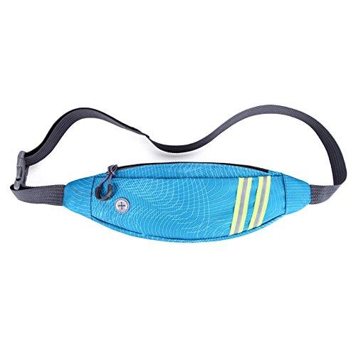 nihiug Pocket Pack Noir Multifonctionnel Poches De Sécurité Personnel Sécurité Sacs De Cambrioleur Outdoor Casual Sports Taille Sacs