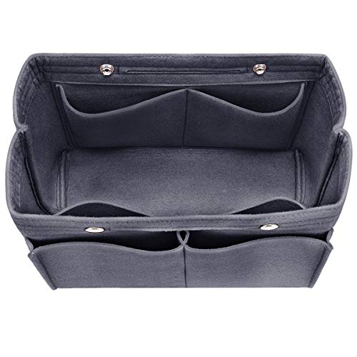 Hokeeper Felt Geldbörse Insert Organizer, Handtasche Organizer, Tasche in der Tasche, Wickeltasche Organizer, stehen auf eigene, 12 Fächer, 3 Größen (Speedy Base Shaper)