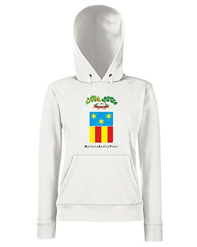 T-Shirtshock - Sweats a capuche Femme TM0024 barletta andria trani provincia citta Blanc