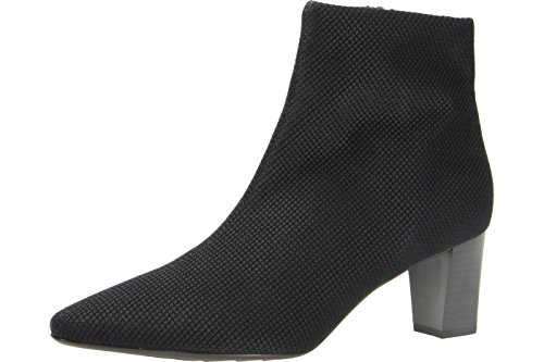 Peter Kaiser Marion Womens Dress Ankle Boots Black Rombo Fabric