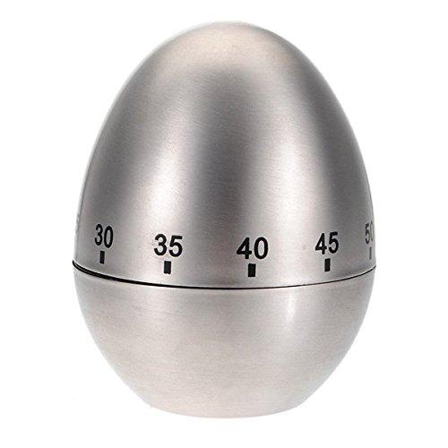 Calli Forma huevo acero inoxidable 60 minutos temporizador