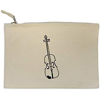 'Violin Instrument' Canvas Clutch Bag / Accessory Case (CL00010060)