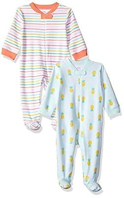 Amazon Essentials - Pack de 2 pijamas de niña para dormir y jugar