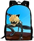 DFIDAS Mochila Unisex School Bags Cat M-iraculous Lady-Bug NOI-r Laptop Backpack...