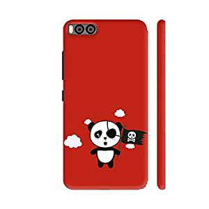 Colorpur Panda Pirate with Flag Printed Back Case Cover for Xiaomi Mi 6