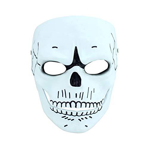 SJZC Maske Halloween Cosplay Skelett Masken Harz Erwachsene Prop Lustig Kind Spielzeug