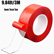 Nano Tape Traceless Washable Adhesive Tape Reusable Nano Tape Double-Sided Removable Tape for Home Wall Room O