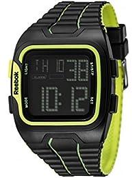 Reebok reloj rfws1g9pbp-bby Workout–SZ1Guerrero Negro, Gris Dial dígitos.