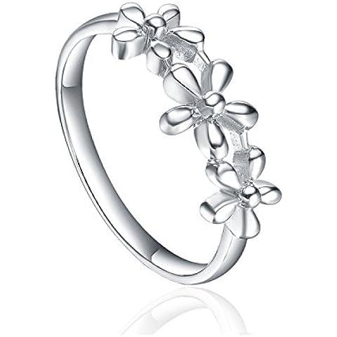 STARHARVEST donna in argento 925, motivo: anniversario di matrimonio a fascia da matrimonio, fidanzamento anello per bambina