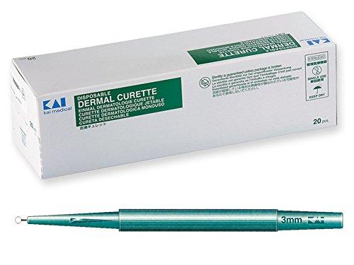 GiMa 22603Curette dermatologiche, 3mm Durchmesser, 20Stück