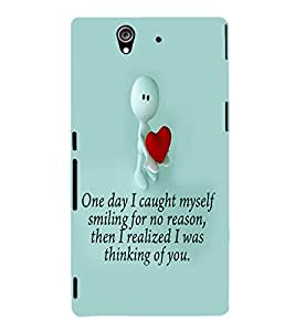PRINTVISA Quotes Love Case Cover for Sony Xperia Z