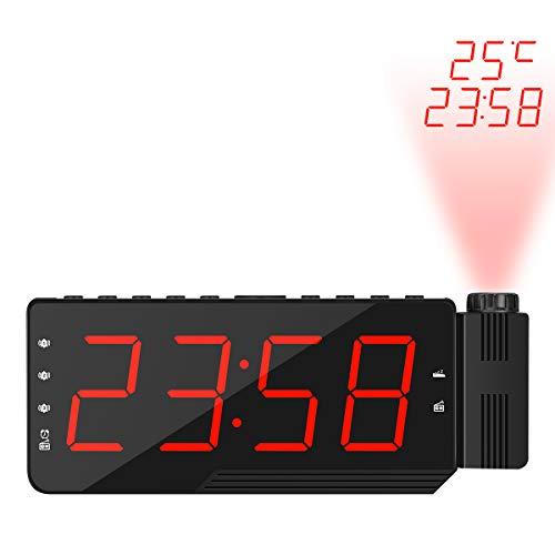 TiooDre Reloj Despertador de proyección