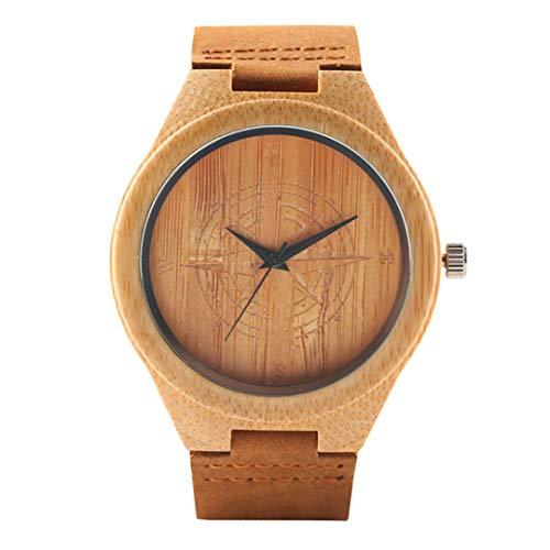 Mandala BöHmischen Stil Holz Mann Frauen Uhren Exquisite Thailand Elefanten Gravur Bambus Armbanduhr MäNner Uhr Weihnachtsgeschenke Compass