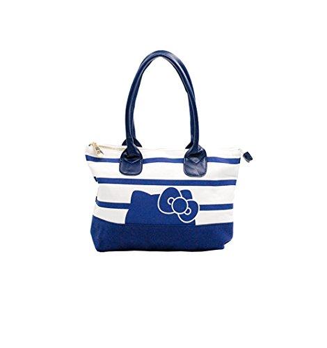 Hello Kitty - Hand Bag in Tela Bianco/Blu Salida Populares Venta Imágenes Baratas 3jkvFE0