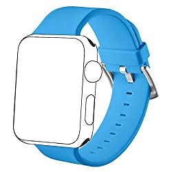 Vandarui For Apple Sports Watch Band,silicone Bracelet Strap Wristband Replacement Band For Apple Watch Series 1,apple Watch Series 2,apple Watch Series 3 (42mm, Blue)