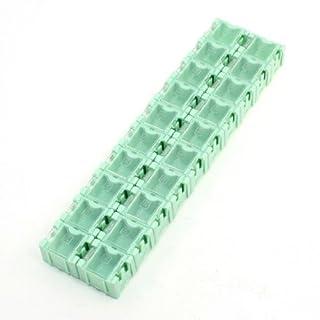 Aufbewahrungsbox für Elektronikbauteile, 20 Blöcke, hellgrün, SMT, SMD