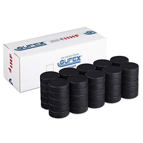 Better Hockey Official Hockey Puck 50-Pack Gufex IIHF Eishockey Spielpucks