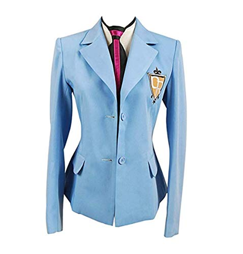 Club Highschool Kostüm Ouran Host - Tianxinshop Anime High School Host Club Jacket und Krawatte Cosplay Kostüm für Erwachsene, Collegejacke--Unisex