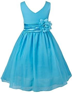 Tiaobug Kinder Mädchen Kleid Festlich Blumen-mädchen Chiffon Kleid Prinzessin Party Kleid Hochzeit Festzug 92-164
