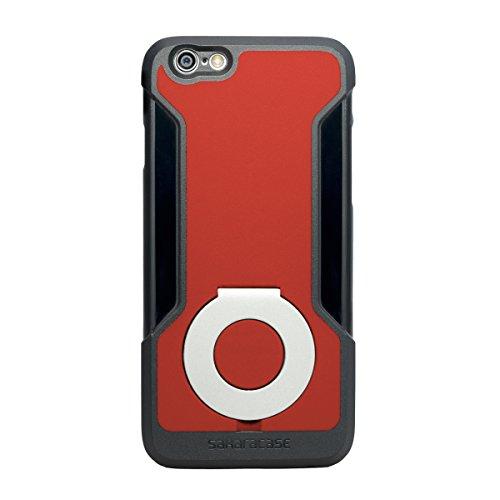 iPhone 6 Hülle, (Schwarz) Kickstand SaharaCase Schutz Kit Paket mit Null Schaden [ZeroDamage gehärtetes Glas Bildschirmschutz] Robuster Schutz Anti-Rutsch-Griffigkeit [Stoß sicherer Puffer] Schlanke P Schwarz/Rot