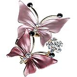 Merdia Elegante Zwei Schmetterlinge Legierung Brosche mit Strass
