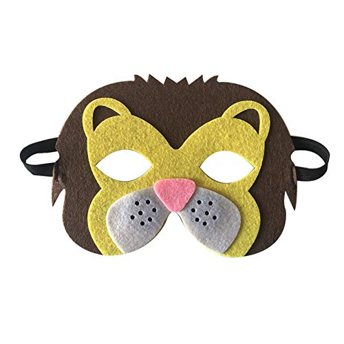 Starall Kinder Halloween Masken Niedlichen Tier Lion Tiger Fox Maskerade Party Kostüm Cosplay Prop (Löwin)