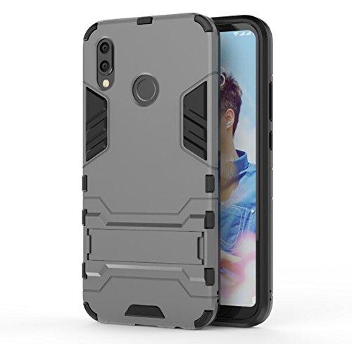 AVIDET Huawei P20 Lite Hülle - Bumper und Anti-Scratch 2 In1 TPU Silikon Case für Huawei P20 Lite (Grau)