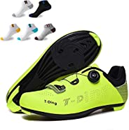 OneChange Men's Road Cycling Shoes, Lightweight Bike Shoes Breathable Fashion Outdoor Cycling Shoes Unisex